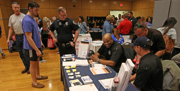 UNc Police attending a Recruitment event
