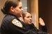 New officers being sworn in